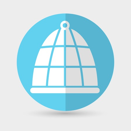 trapped: bird cage icon Illustration