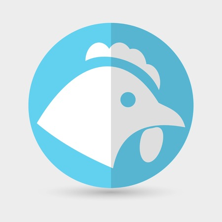 cockscomb: chicken icon on a white background