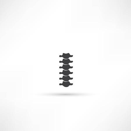 scoliosis: Spine diagnostics symbol design