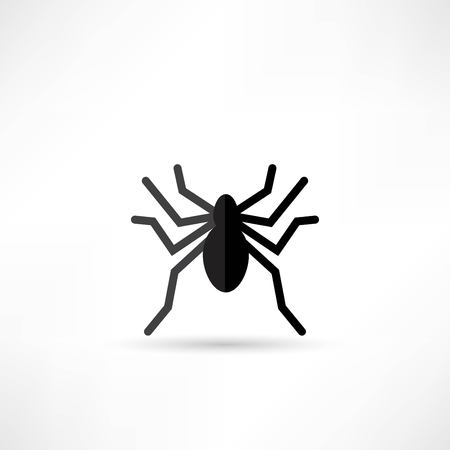 spidery: Spider icon Illustration