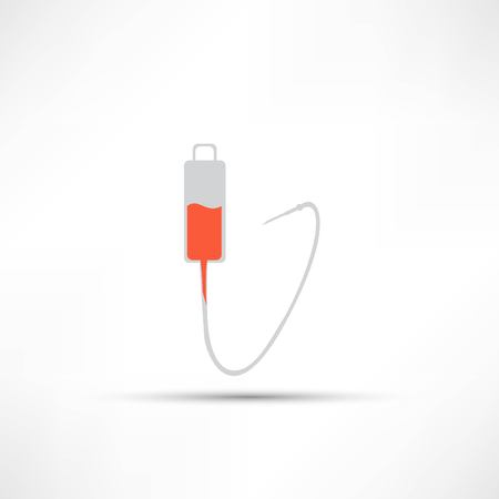 intravenous: Intravenous therapy system icon, Medical dropper Illustration