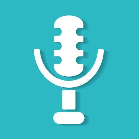 retro microphone: retro microphone icon Illustration