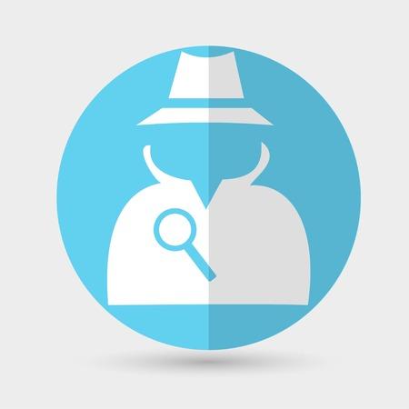 inspector: spy icon Illustration