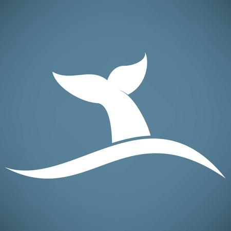クジラ尾アイコン  イラスト・ベクター素材