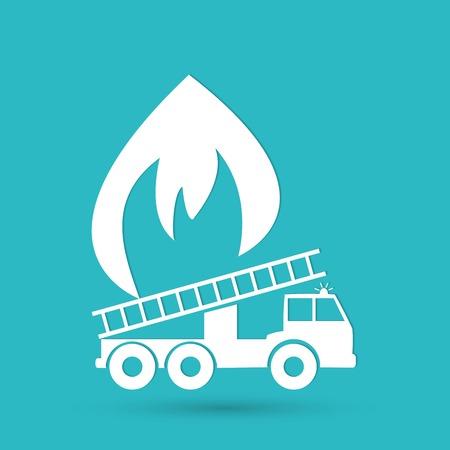 fire engine: Illustrazione vettoriale di un camion dei pompieri Vettoriali