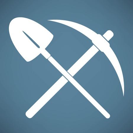 Ramasser et le symbole de la pelle Banque d'images - 40142237