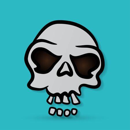 cranium: Vector skull Illustration