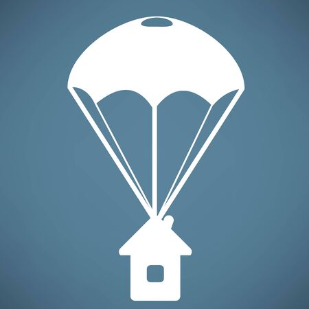 muted: Parachute Icon Illustration