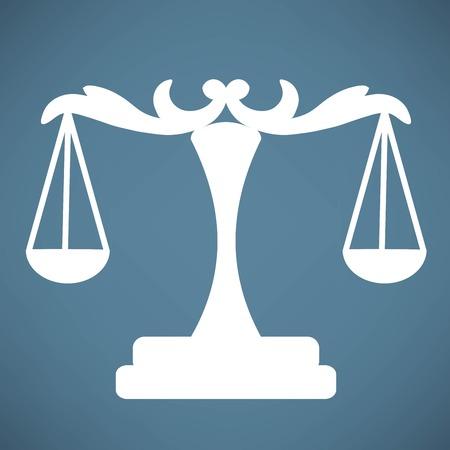 fairness: scales icon Illustration