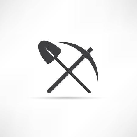 pick: pick and shovel  symbol