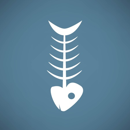 skeleton fish: fish skeleton Illustration