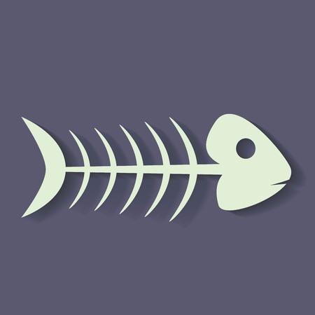 skeleton of fish: esqueleto de pescado