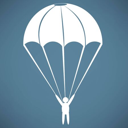 sky dive: Parachute Icon Illustration