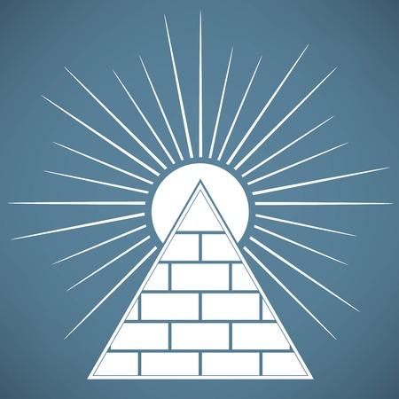 피라미드 일러스트