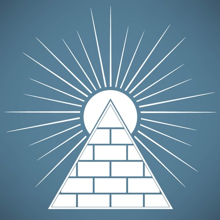 illuminati: Pyramid Illustration