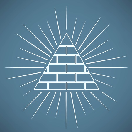 new world order: Pyramid Illustration