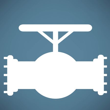 stopcock: Simple icon connecting pipes valve