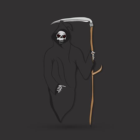 deadly danger sign: Death with scytheman