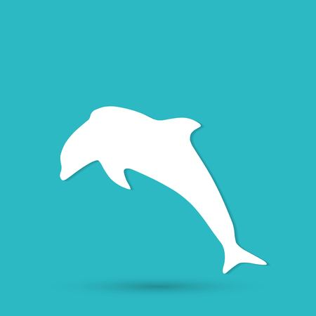 sea creature: dolphin icon
