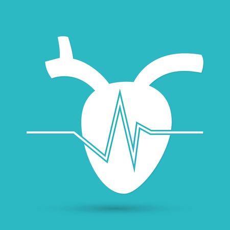 the human heart: icono de coraz�n humano Vectores