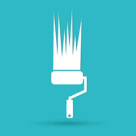 career: Paint roller icon Illustration