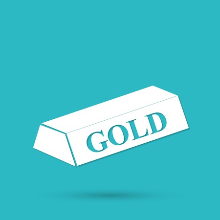 gold bar: gold bar isolated on blue background