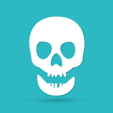 Skull icon isolated. Vector
