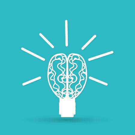 shine background: Light bulb vector icon Illustration