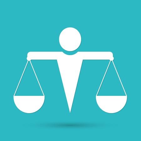 fairness: justice icon