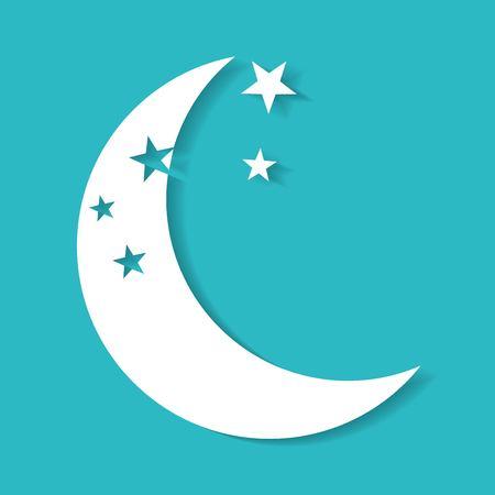 moonbeam: moon icon vector