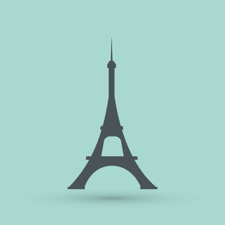 tower tall: Eiffel tower icon Illustration
