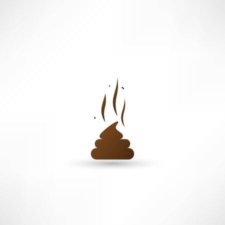 stench: Poo vector icon Illustration