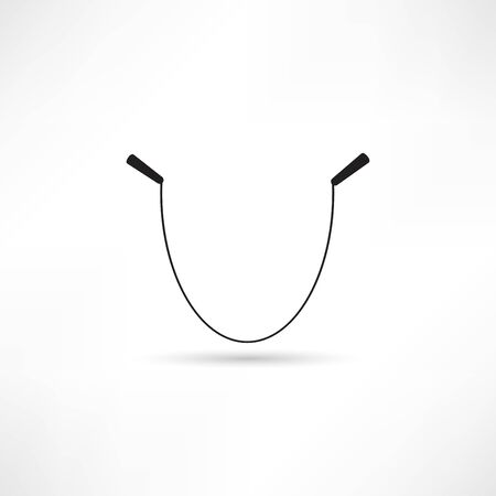 rope vector: gym rope vector icon Illustration