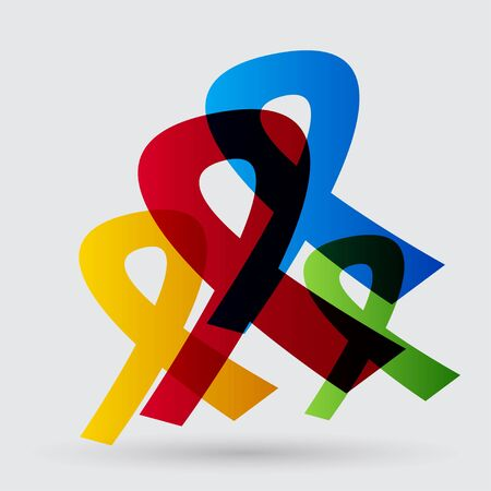cancer awareness ribbon: Ribbon icon Illustration