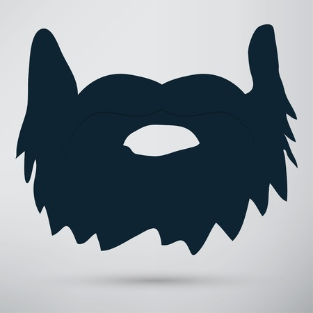 whisker characters: beard icon Illustration