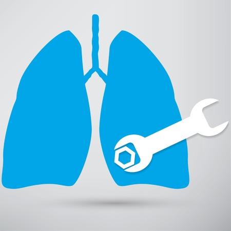 respiration: Human lung icon