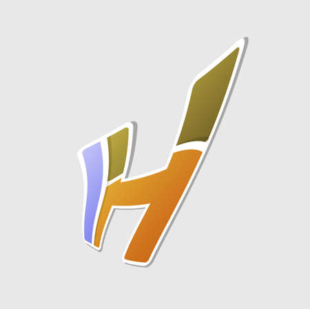 based: Abstract icon based on the letter h