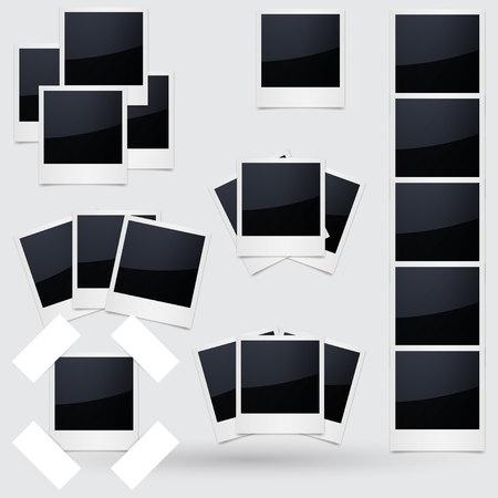 retrospect: Isolated Photo Frames on White Background