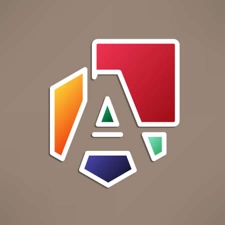 based: Abstract icon based on the letter a Illustration