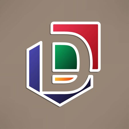 d: Abstract icon based on the letter d
