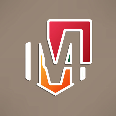 based: Abstract icon based on the letter m