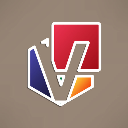 based: Abstract icon based on the letter v