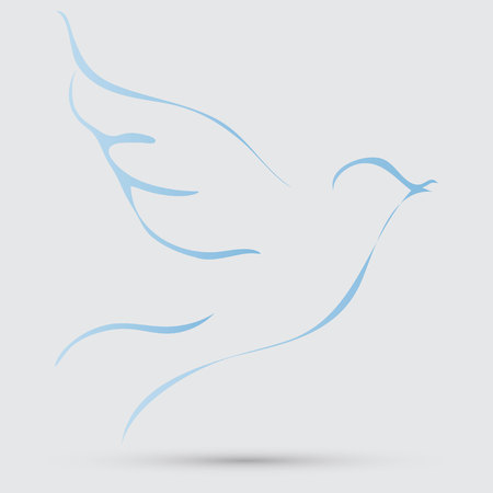dove with olive branch: dove of peace Illustration