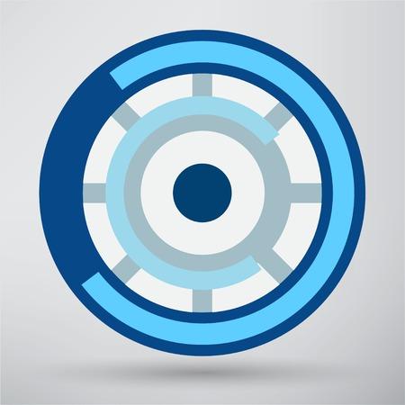 futuristic eye: Cyber eye symbol icon