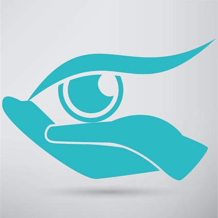 doctor gloves: Eye Protection or Eye Doctor Concept Illustration