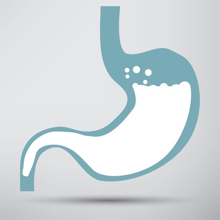 colonoscopy: Human stomach symbol
