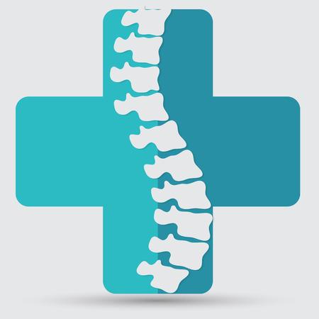 spine surgery: Spine diagnostics symbol design