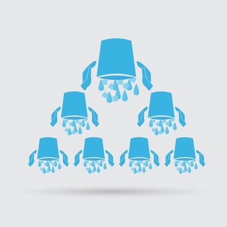 social awareness symbol: Ice Bucket Challenge concept