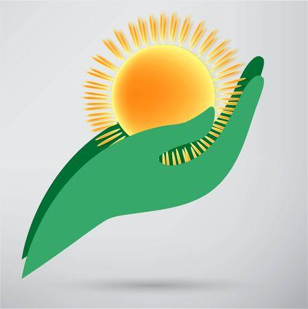 hot tour: Sun in hand creative idea