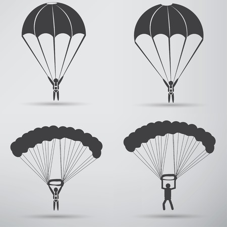 trooper: Parachute Icon design